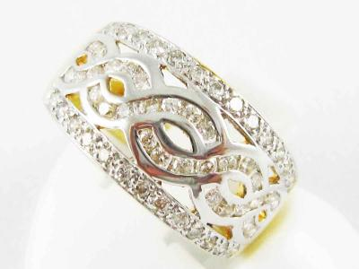 แหวนทองคำเพชรแท้ 60 เม็ด