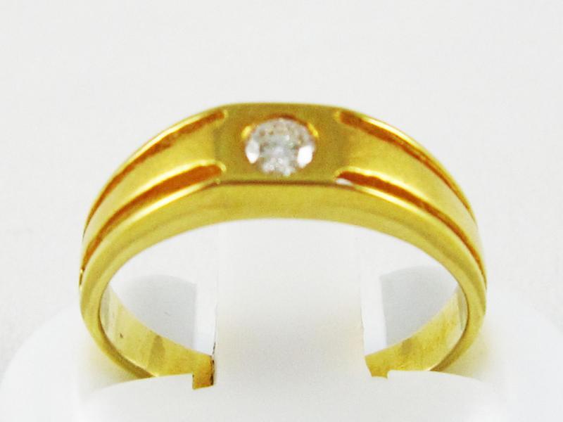 แหวนทองคำแท้ ประดับเพชรเบลเยี่ยม0.11กะรัต
